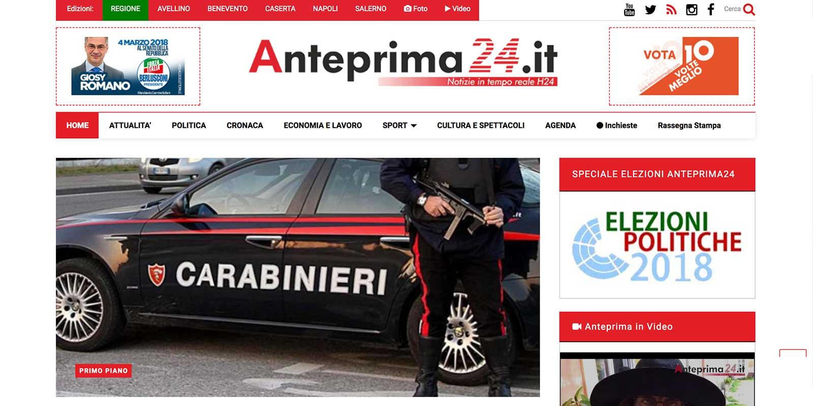 Giornale online Campania
