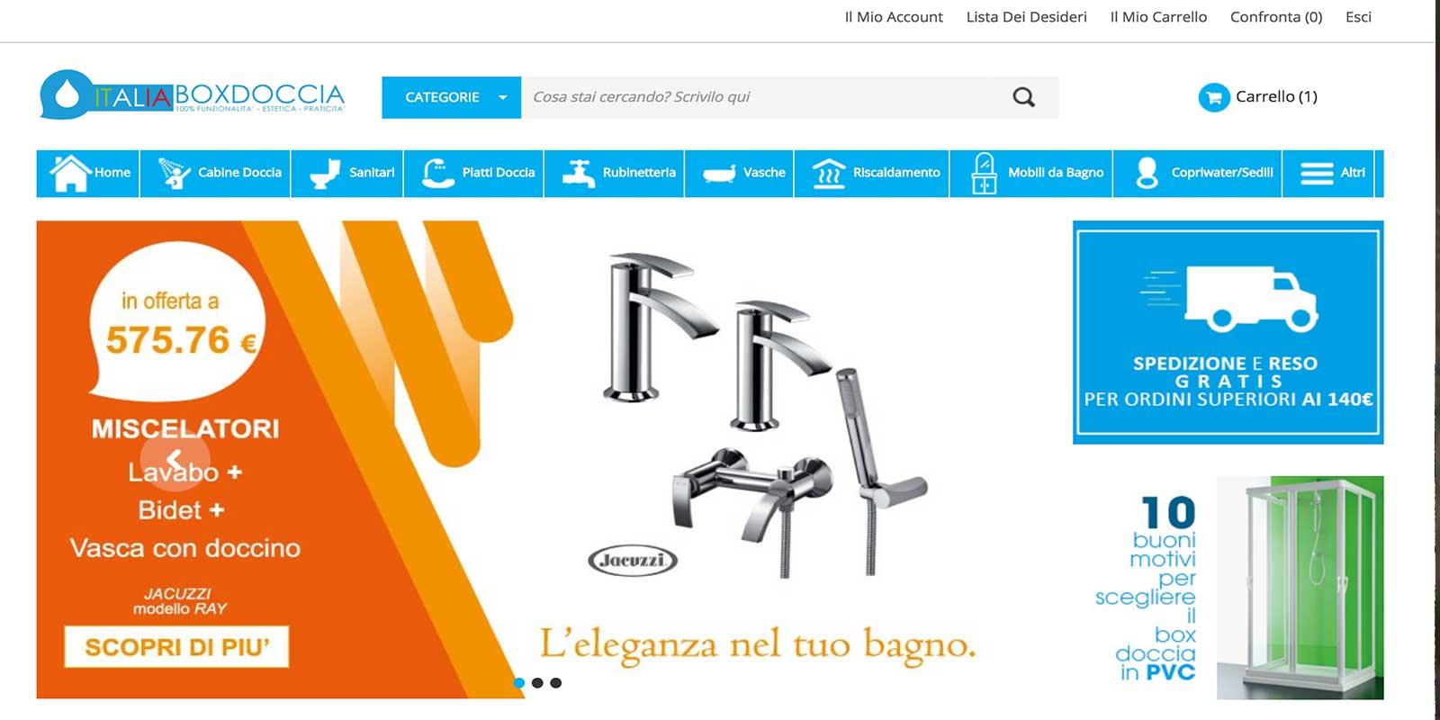 Acquistare box doccia online Deghishop